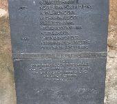 Bronzeband mit Sterbedatum und -ort