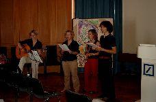 Das Quartett des Lichtwer-Gymnasiums in Wurzen sorgte für die musikalische Umrahmung. (Bei der Probe)