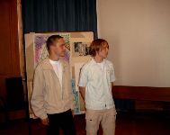 Denny Scharf (l.), Latein mit Stephan Krause, Kunst (Lichtwer-Gymn. Wurzen)